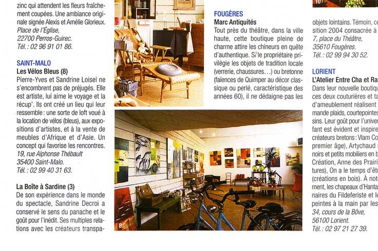 maison fran aise magazine et 2004 les v los bleus. Black Bedroom Furniture Sets. Home Design Ideas